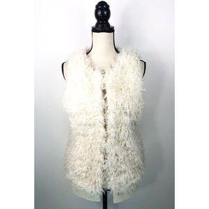 Michael Kors Womens Sweater Vest Faux Fur